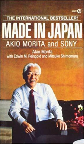 Portada del libro Made in Japan con Akio Morita sonriendo.